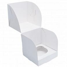 Упаковка для маффинов белая 1 ячейка Pasticciere