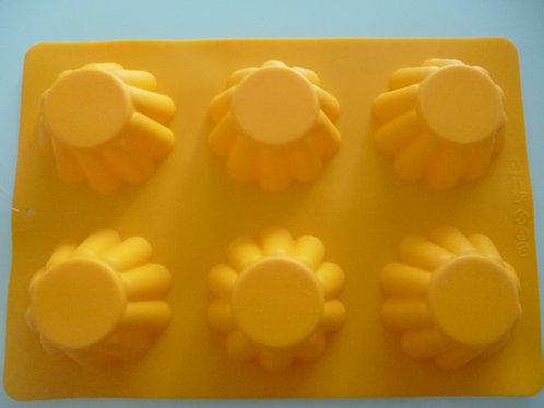 Силиконовая форма  для кексов, гофрированная, Vetta