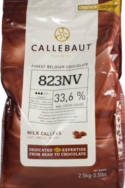 Шоколад молочный Callebaut 33,6% 2,5 кг., Бельгия