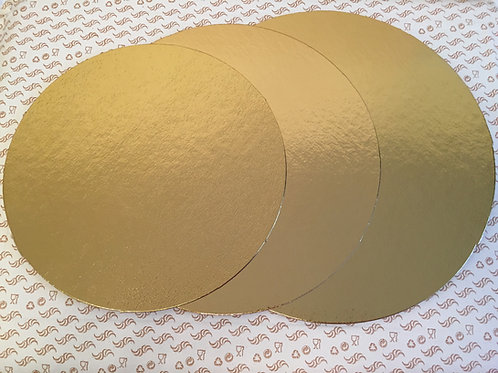 Подложка под торт золото/серебро, d-32 см.