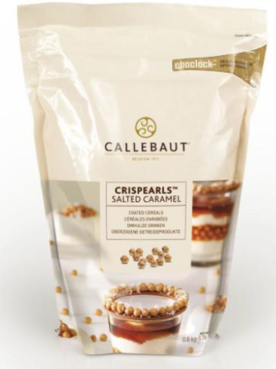 Шоколадные жемчужины Crispearls Callebaut - в подсоленной карамели 100гр