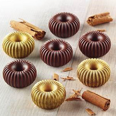 SCG49. Форма силик.ИЗИ-ШОК шоколадная корона