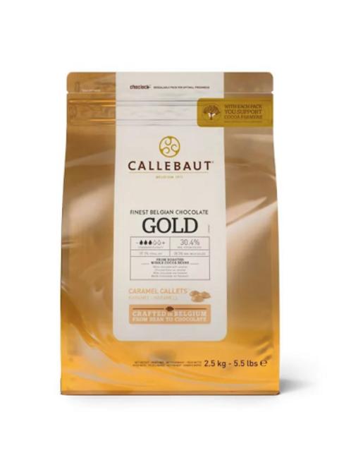 Шоколад белый 30.4% GOLD Callebaut  2,5кг