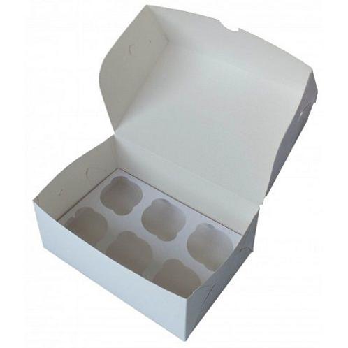 Упаковка для маффинов белая CUP6 ячейки 250х170х100мм Pasticciere