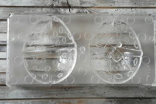 """3D Форма поликарбонатная для шоколада """"Пасхальное яйцо"""", 12*9,5см."""