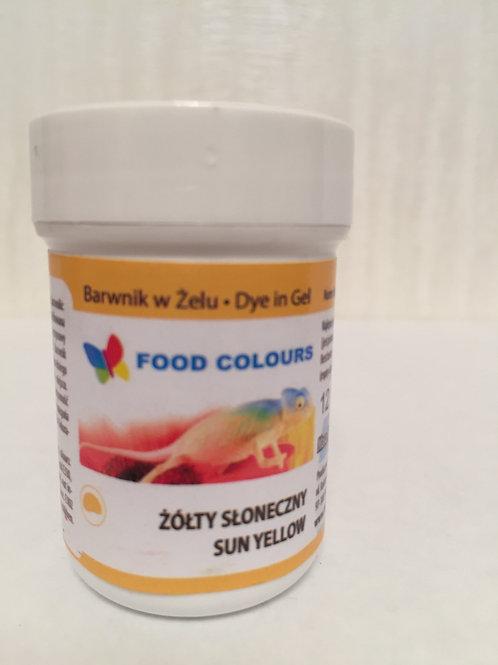 Краситель гелевый Food Colours, желтый,  35 гр., Польша