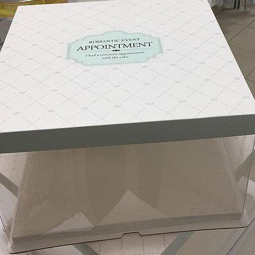 Коробка для торта 36х36х19 прозрачная