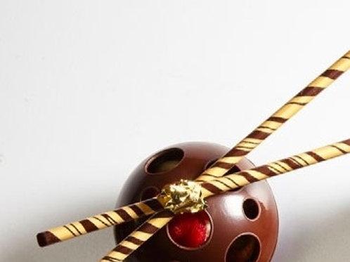Декор  из  шоколада Палочки золотые Мона Лиза 21шт/упак