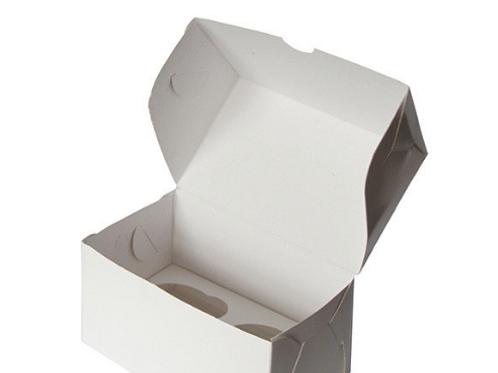CUP2 Упаковка для маффинов белая 2 ячейки 100х160х100мм
