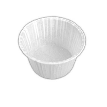 Форма бумажная Маффин белая 50х39 завёрнутый край 100шт/упак