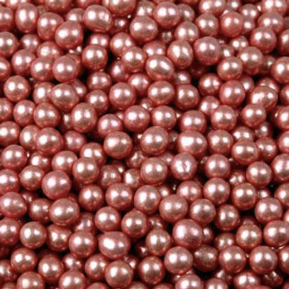 Шарики сахар.красные 5 мм.металл, 50гр
