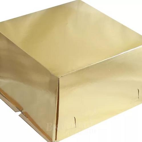 XG190GOLD Упаковка для тортов Pasticciere хром-эрзац ЗОЛОТО 300*300*190