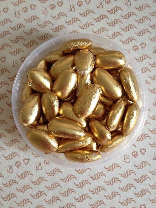 Жемчуг миндаль, золото, с шоколадной начинкой, 50 гр.