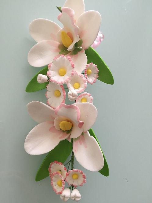 """Цветы из мастики """"Орхидея"""", большая ветка, Италика"""