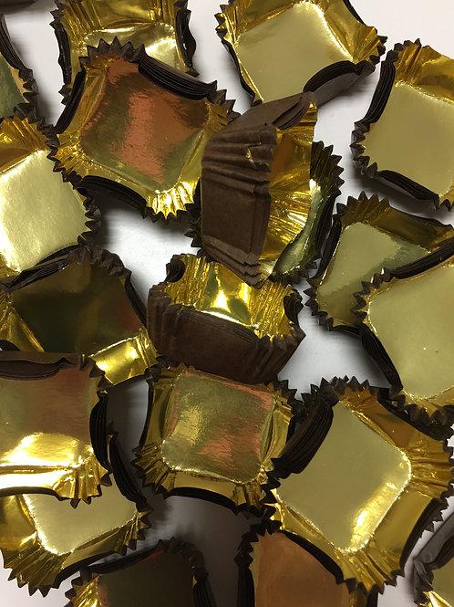 Тарталетки квадрат 1q (Royal) для конфет, 35*35*22,5 мм 50 штук/упак