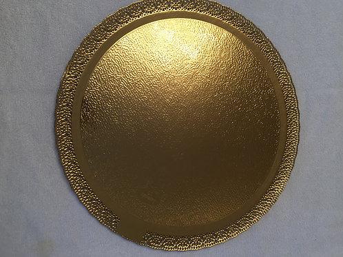 Подложка-поднос ЛЕОНАРДО (золото) , d-28 см., ажурная, усиленная, Италия