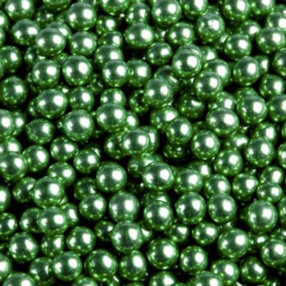 Шарики сахар.зеленые 5 мм.металл