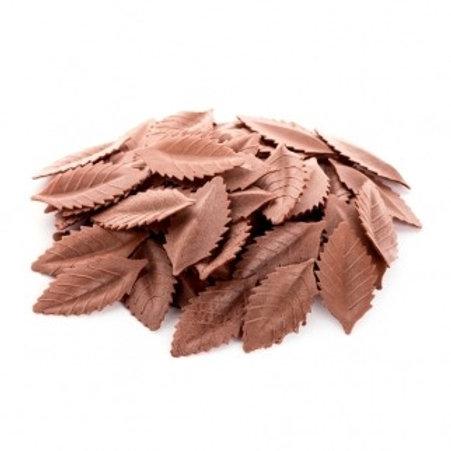"""Вафельные листья """"Лист розы"""", коричневый 1000шт/упак"""