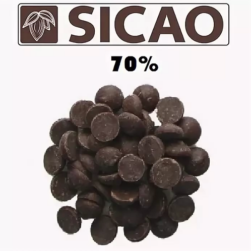 Шоколад горький Сикао 70%  Callebaut 5кг