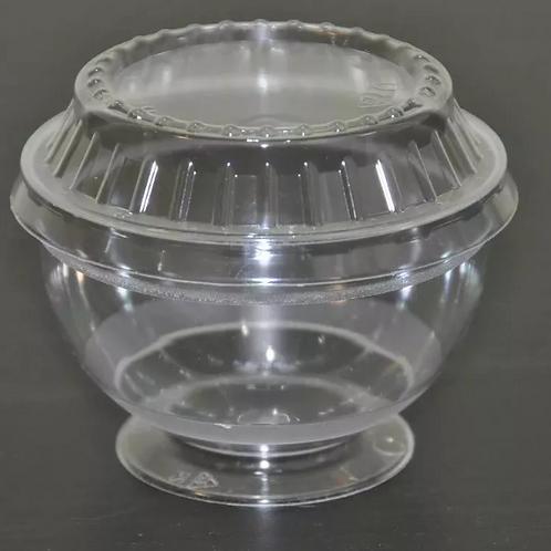 Креманка пластиковая с крышкой прозрачная RAMEKIN, 200 мл / 16штук