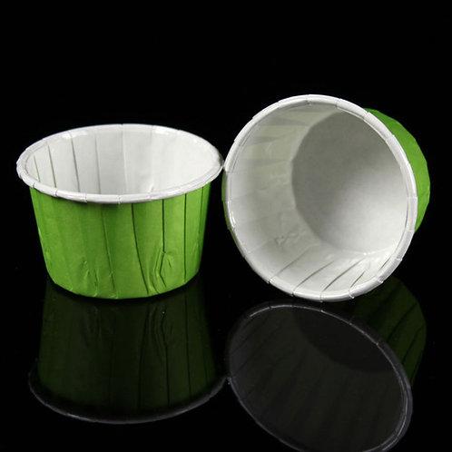 Форма бумажная Маффин зелёная 50х39 завёрнутый край 100шт/упак