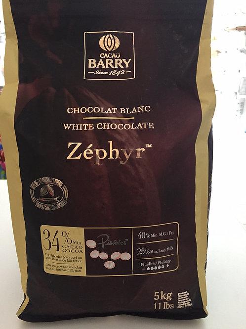 Белый французский шоколад 0,5кг 34% Zephyr, Cacao Barry