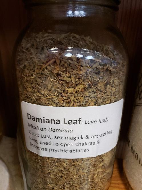 Damiana Leaf by the ounce