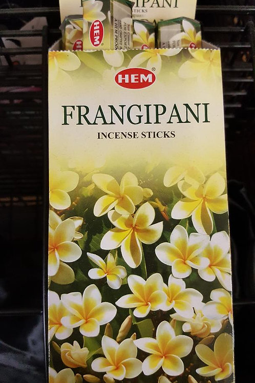 Frangipani Scented Hex Pack Incense