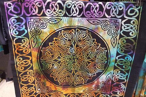 Tie Dye Celtic Knot Tote Bag