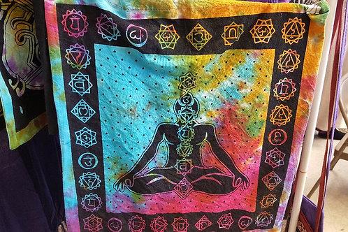 Tie Dye Chakra Tote Bag
