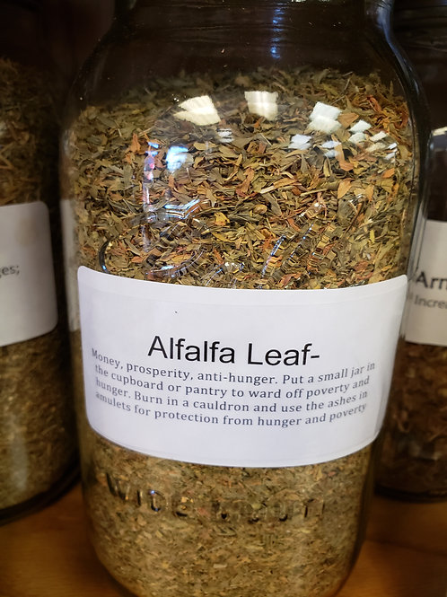 Alfalfa Leaf by the ounce