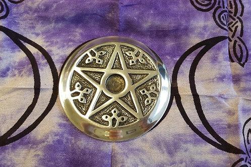 Pentagram Metal  Incense Holder