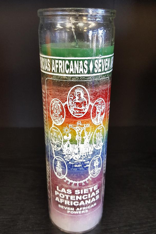 Seven African Powers 7 Day Candle