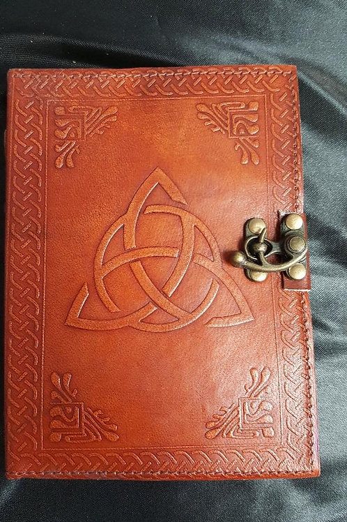 5 x7 Leather Triquetra Journal
