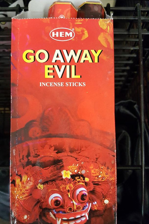 Go Away Evil Incense Hex Pack