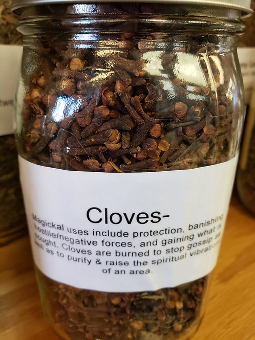 Cloves by the ounce