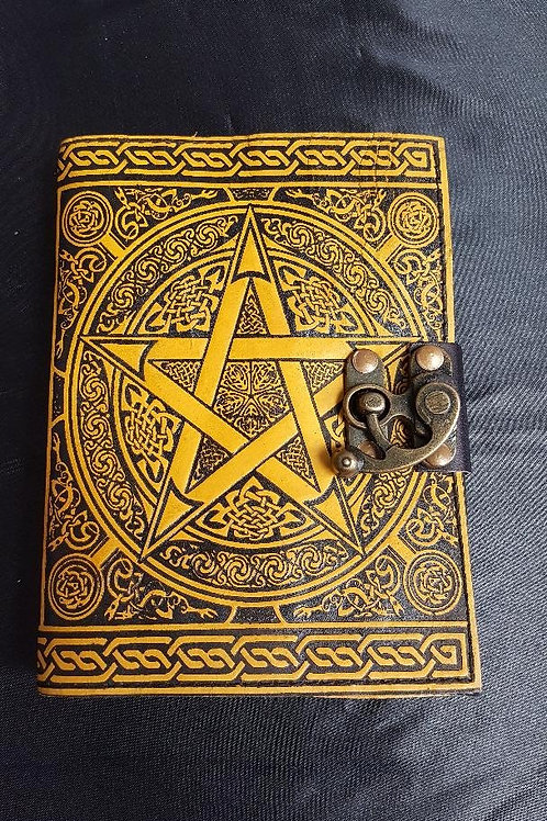 5 x7 Leather Pentagram Journal
