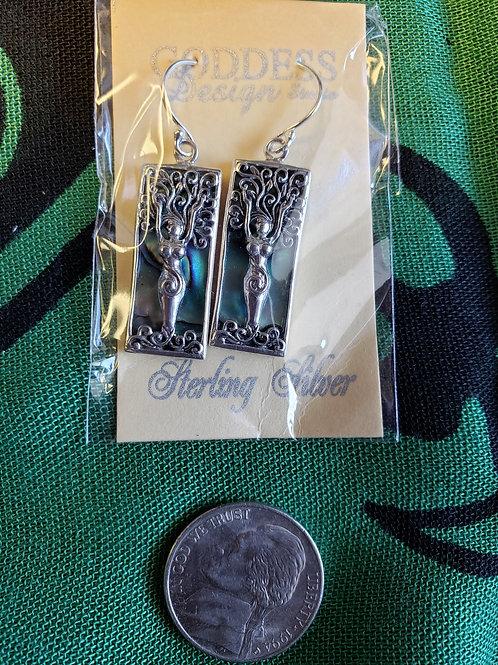 Tree Goddess Mother of Pearl earrings