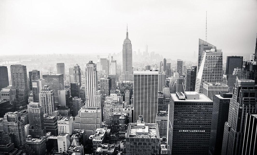 NYC Skyline BW