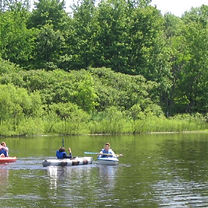 There are paved trails throughout Geneva State Park well as river and lake access for kayaking