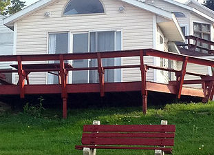 12 cottages, each sleep 4-10 people, kitchenettes, property is lakefront with beach access. Located on the Geneva-on-the-Lake strip. Open Memorial Day thru October. Kid friendly and Pet friendly with deposit.