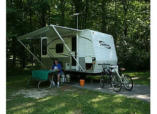 93 Electric campsites with availability all year round; 19 of them are full-service sites and are available May through October. Dump station, flush toilets, showers. Geneva State Park offers a sandy beach, marina, freshwater marshes, 2 creeks, and a paved hiking/biking trail located along the lake.  Also available: 12 cabins, kitchenette, 1-bedroom with hide-a-bed and loft. Screened in porch, deck with grill, fire ring, and an enclosed pavilion.  The campground is located across the street from Lake Erie, west of State Route 534.  Open year round. Accepts credit cards. Kid friendly, Pet-friendly.  For reservations 866-644-6727