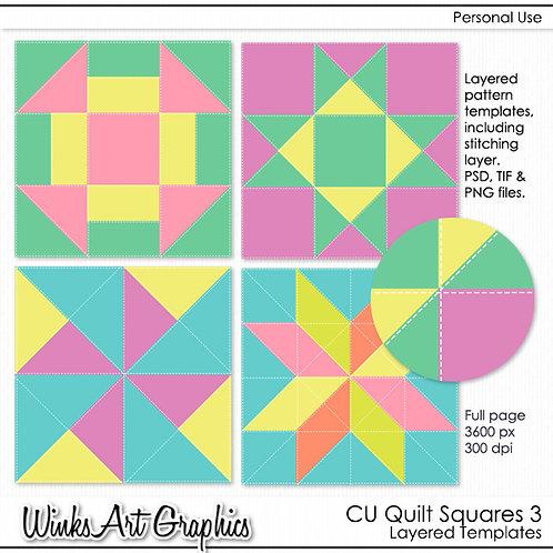 CU Quilt Square Templates #3