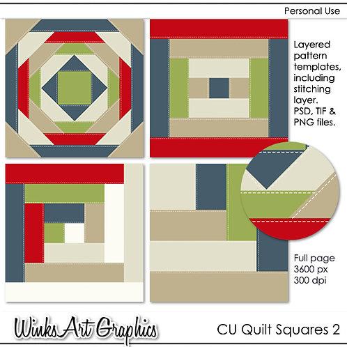CU Quilt Square Templates #2