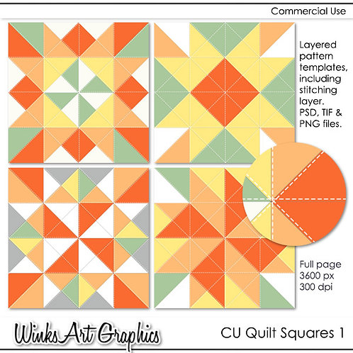 CU Quilt Square Templates #1