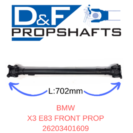 BMW X3 E83 Front Propshaft
