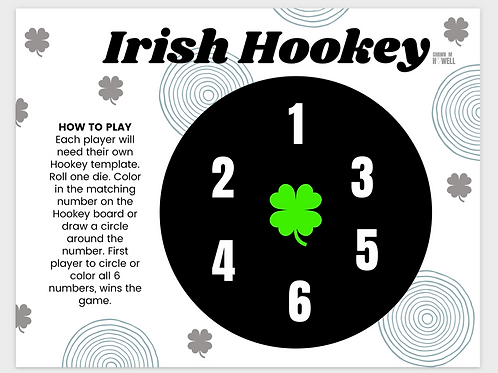 Irish Hookey Game Board (printable)