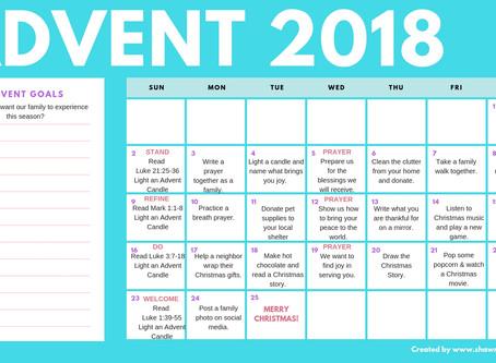 NEW 2018 Advent Calendar for Families