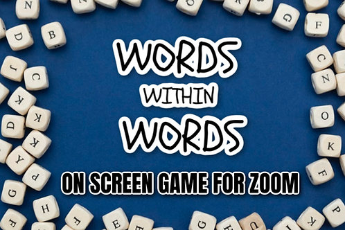 Words Within Words On Screen Game
