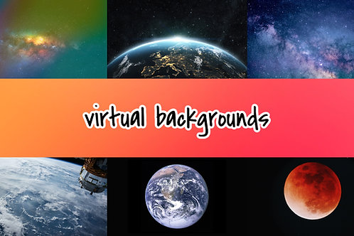 Outer Space Virtual Backgrounds